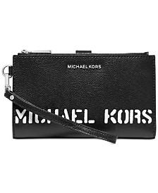 MICHAEL Michael Kors Logo Double Zip Wristlet