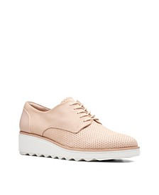 Clarks Collection Women's Sharon Crystal Wedge Oxfords