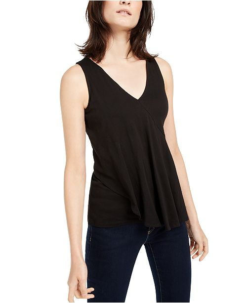 Michael Kors Spliced Overlapping Top