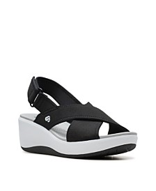 Clarks Women's Cloudsteppers Step Cali Cove Wedge Sandals