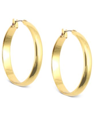 Image of Anne Klein Click-It Hoop Earrings