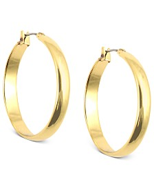 "Anne Klein 1 1/4"" Click-It Hoop Earrings"