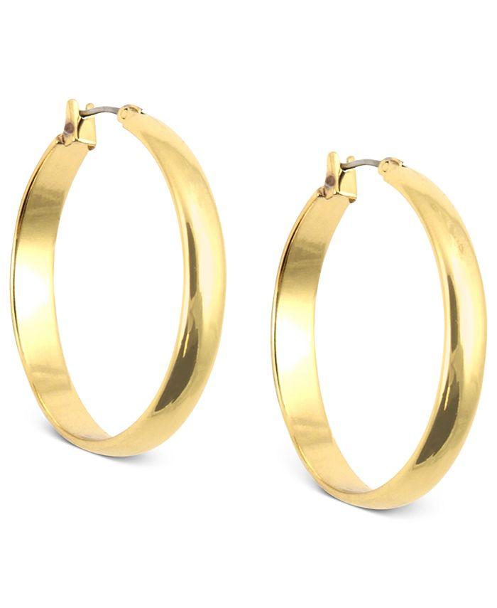 Anne Klein - Gold-Tone Click-It Hoop Earrings