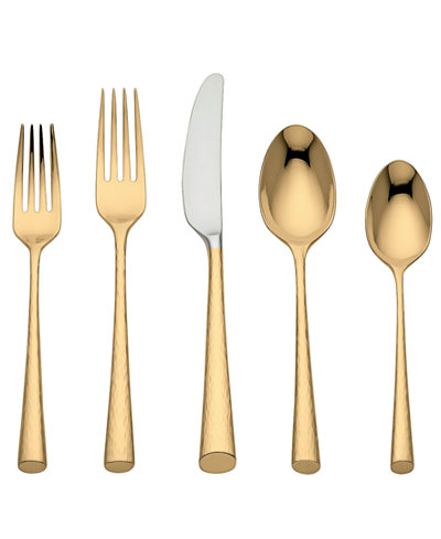 Marchesa by Lenox Flatware 18/10, Imperial Caviar Gold 5-Piece Place Setting