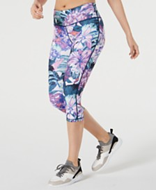 Ideology Floral Printed Cropped Leggings