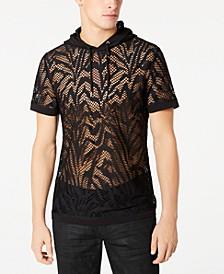 INC Men's Zebra-Stripe Hooded Mesh T-Shirt, Created for Macy's