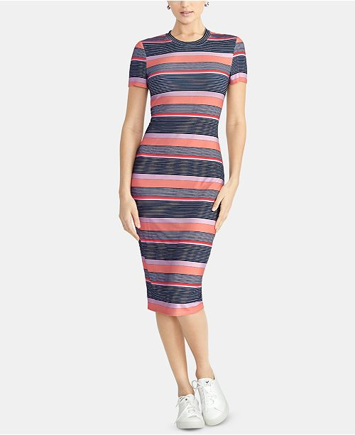 RACHEL Rachel Roy Striped T-Shirt Bodycon Dress