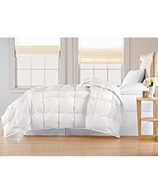 Oversized White Goose Down Comforter, Full/Queen