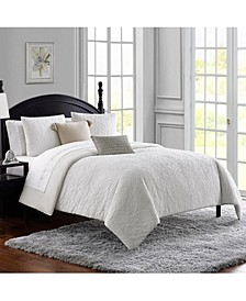 Madelaine Cotton Matelasse Medallion 3Pc Queen Comforter Set