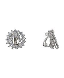Nina Cubic Zirconia Swirl Clip Earrings