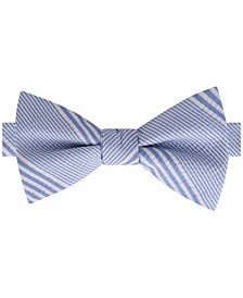 Tommy Hilfiger Men's Seersucker Stripe Pre-Tied Silk Bow Tie
