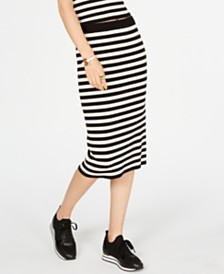 Michael Michael Kors Striped Sweater Skirt