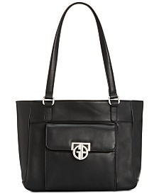 Giani Bernini Hardware Nappa Leather Tote, Created for Macy's