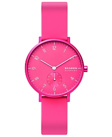 Skagen Aaren Kulor Neon Silicone Strap Watch 36mm