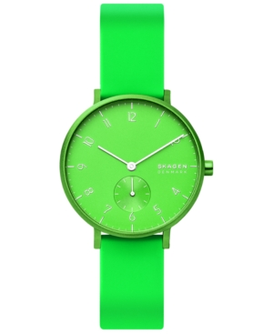 Skagen Watches AAREN KULOR NEON SILICONE STRAP WATCH 36MM