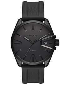 Men's MS9 Black Silicone Strap Watch 44mm