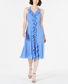 Sleeveless Ruffle Midi Dress