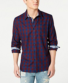 Men's Banarama Regular-Fit Check Shirt, Created for Macy's