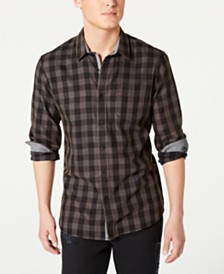 American Rag Men's Banarama Regular-Fit Check Shirt, Created for Macy's