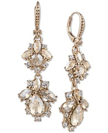 Crystal Cluster Double Drop Earrings