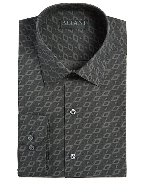 Alfani Assorted Men's Athletic Fit Print Dress Shirts, Created for Macy's