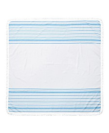 Enchante Home Anchor Turkish Cotton Square Beach Towel
