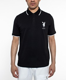 Sean John Men's Playboy Collection Embroidered Logo Polo