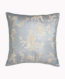 Lillian August Blue Willow Tea House Decorative Pillow