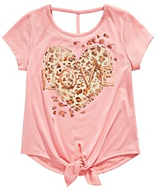 Big Girls Love-Print Tie-Front Top