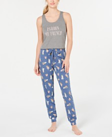 Jenni Sleep Keyhole Tank Top & Sleep Drawstring Pants