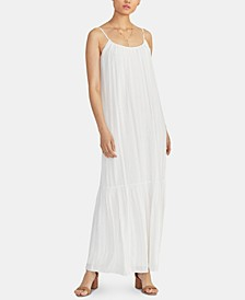 Leo Metallic-Stripe Maxi Dress