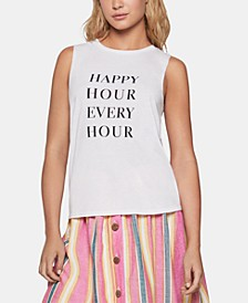 Happy Hour Graphic-Print Muscle T-Shirt