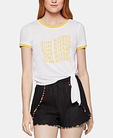 Sun Kissed Side-Tie Ringer T-Shirt