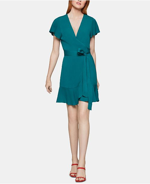 BCBGeneration Surplice Fit & Flare Dress