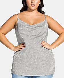 City Chic Trendy Plus Size Cowlneck Top