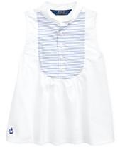 536d90253 Polo Ralph Lauren Toddler Girls Cotton Broadcloth Bib Shirt