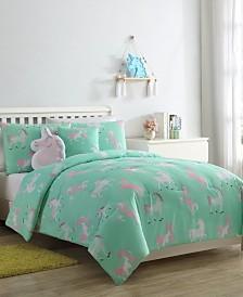 Tie Dye Unicorn 4-Pc. Twin Comforter Set