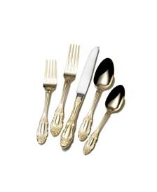 Mikasa Duchess Gold Plated 65 Piece Flatware Set