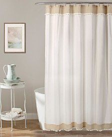 "Adelyn Pom Pom 72"" x 72"" Shower Curtain"