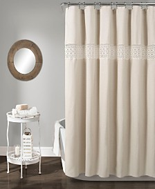 "Dana Lace 72"" x 72"" Shower Curtain"