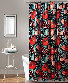 "Poppy Garden 72"" x 72"" Shower Curtain"