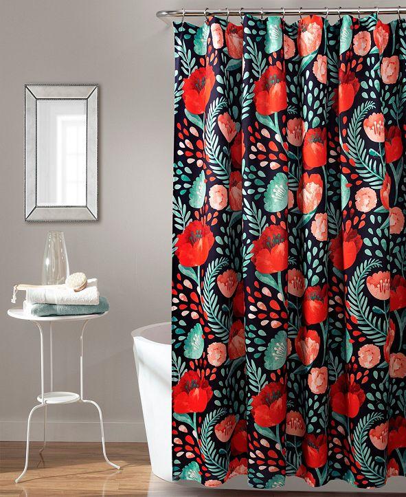 "Lush Decor Poppy Garden 72"" x 72"" Shower Curtain"