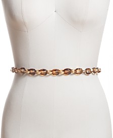 I.N.C. Tortoise-Look Chain Belt, Created for Macy's