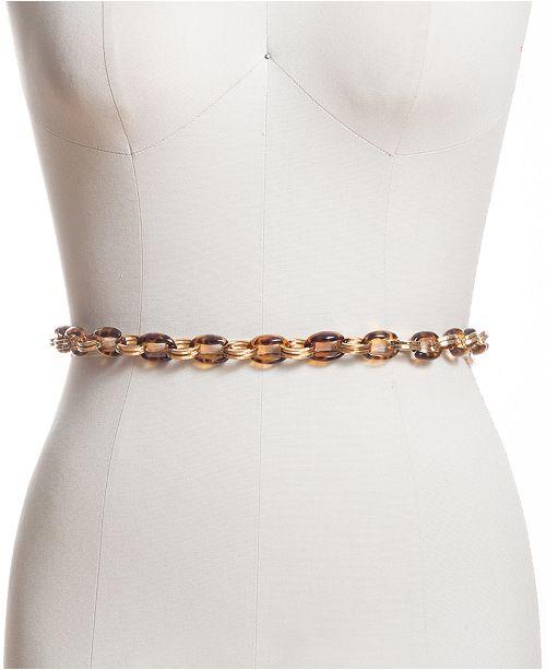 INC International Concepts I.N.C. Tortoise-Look Chain Belt, Created for Macy's
