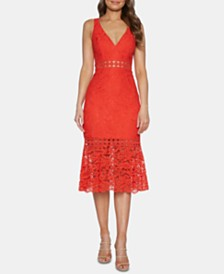 Bardot Fiona Lace Fit & Flare Dress