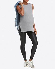 Plus-Size Mama Faux Leather Leggings