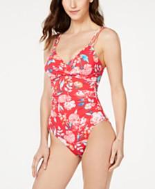Lauren Ralph Lauren Floral-Print One-Piece Swimsuit