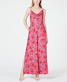 Hana Floral-Print Cowl-Neck Jumpsuit