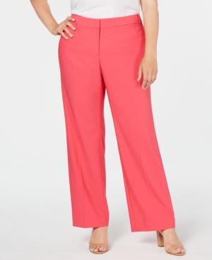 Calvin Klein Plus High-Rise Straight-Leg Pants
