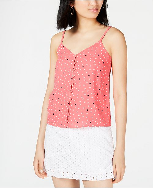 Maison Jules Dot-Print Blouse, Created for Macy's